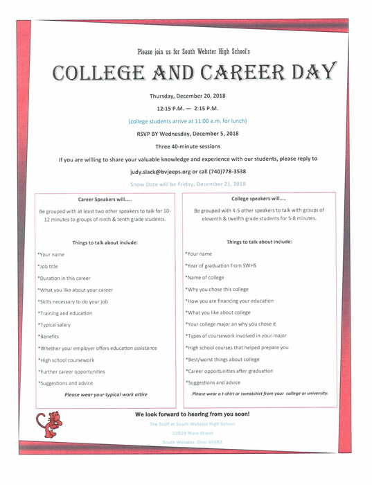 College and Career Day 2018