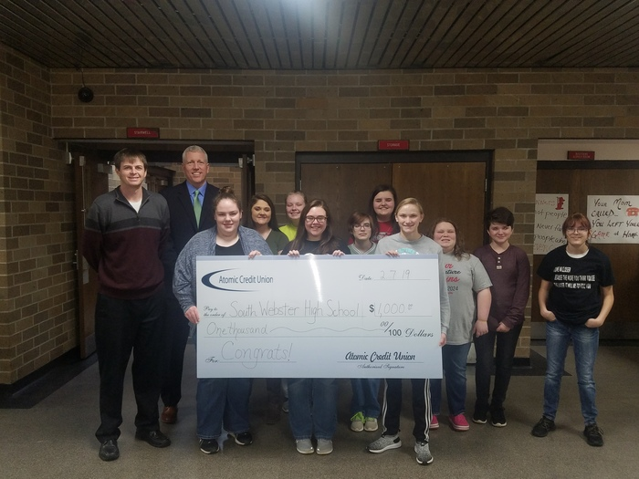 Atomic Credit Union $1000 Donation 2019