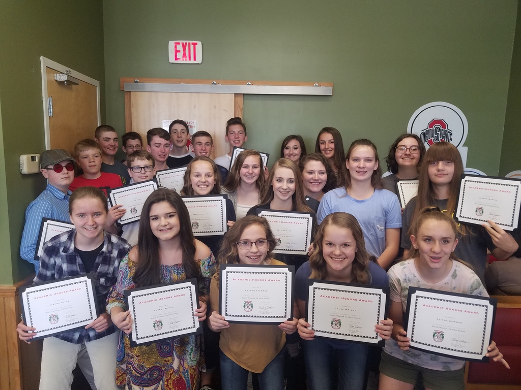 8th Grade Academic Awards 2019