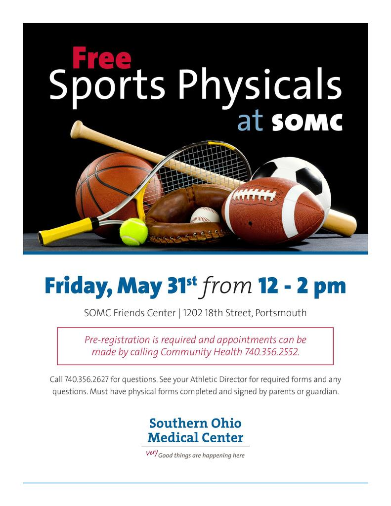 SOMC Makeup Sports Physicals 2019