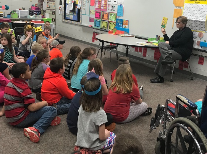 Mrs. Smith Reading to Students